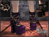 """Elegant Dolly"" Pumps with Lace Socks (PURPLE)"