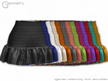 Geometry > Precious Ruffle Skirt > All Colors ( rigged mesh in standard sizing )