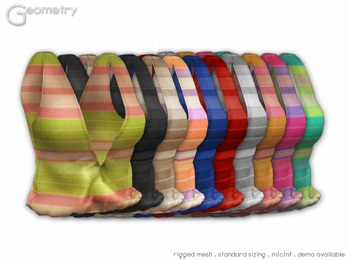 <Geometry> Candy Tank > All Colors ( rigged mesh in standard sizing )