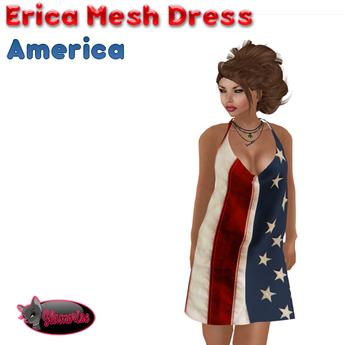 .:Glamorize:. Erica Mesh Dress - America (5 Sizes)