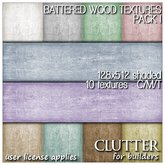 Clutter for Builders - Battered Wood Textures I