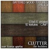 Clutter for Builders - Battered Wood Textures II