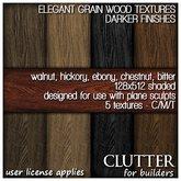 Clutter for Builders - Elegant Grain Wood Textures Darker