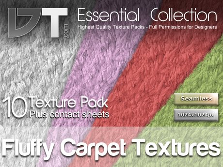 10 Fluffy Carpets Textures - Full Perm - DT Essential Collection
