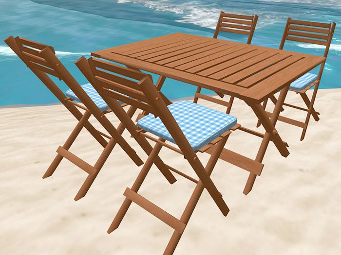 Folding Table and Chairs in Cherry