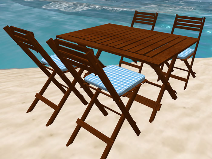 Folding Table and Chairs in Teak