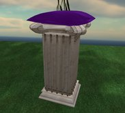 Column Pedestal [Gold & White]