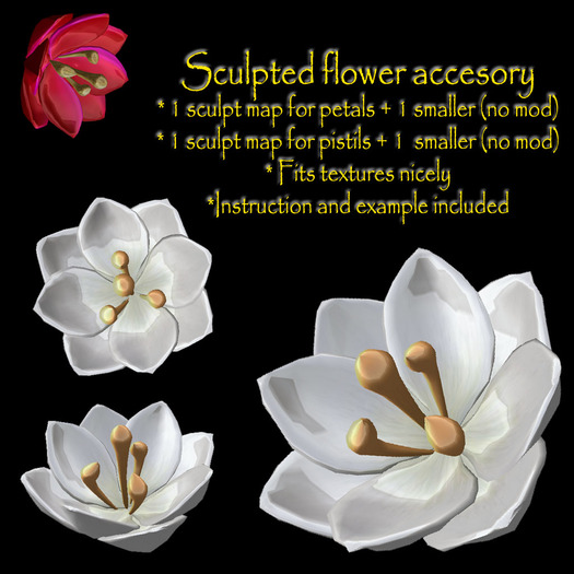 Sculpted floral accesory / flower jewel