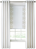 WHITE Elegant Drape Curtain on window Panel - Full Perm Texture