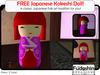 FREE! Japanese Kokeshi Doll