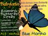 Babylonia: Roaming Butterfly/Firefly: Blue Morpho
