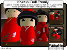 Kokeshi Doll Family