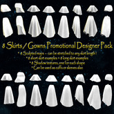 8 Mini Skirts / Gowns Promotional Designer Fatpack