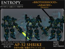 =ENTROPY= U.C.U AP-52 Shrike Heavy Mech