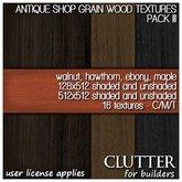 Clutter for Builders - Antique Shop Grain Wood Textures III