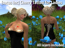 [satus Inc] Cherry Tattoo for Ladies (front & back) (all layers included)