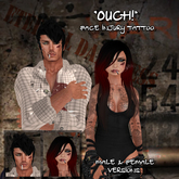 """::ED::""""Ouch!"""" Face injury tattoo Male and Female"""