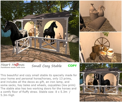 <Heart Homes> Small Cozy Stable (BOXED)