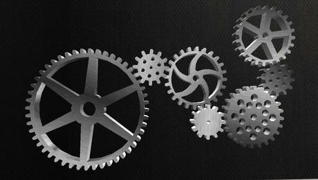 Mesh Steampunk Animated Gears