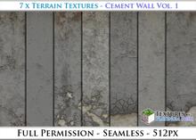 Terrain Textures: Cement Wall Vol. 1 - Full Permissions