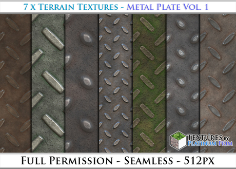 Terrain Textures: Metal Plate Vol. 1 - Full Permissions