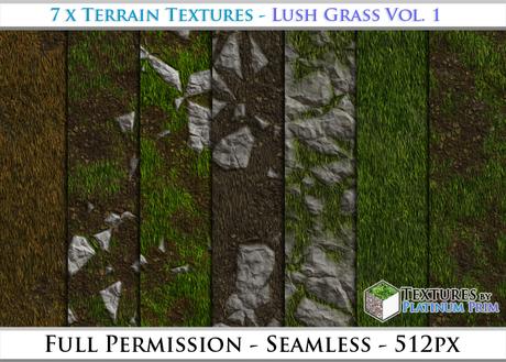 Terrain Textures: Lush Grass Vol. 1 - Full Permissions
