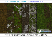 Terrain Textures: Lush Grass Vol. 1 - Full Permissions