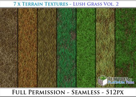 Terrain Textures: Lush Grass Vol. 2 - Full Permissions