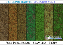 Terrain Textures: Lush Grass Vol. 2 - Full Permissions