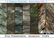 Terrain Textures: Rock Wall Vol. 2 - Full Permissions