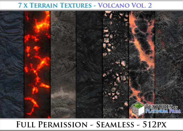Terrain Textures: Volcano Vol. 2 - Full Permissions