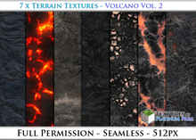 Terrain Textures: Volcano Vol. 2 - Full Permissions