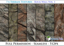 Terrain Textures: Rock Wall Vol. 1 - Full Permissions
