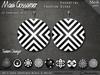 Earrings - 60's Gogo Disks - Black and White
