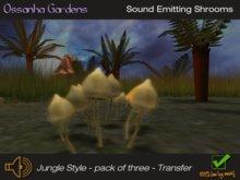 Mushroom sound emitters mesh