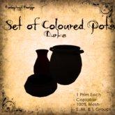 [DDD] Set of 3 Coloured Pots - Darks Tones