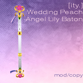 [ity.] Wedding Peach Angel Lily Baton