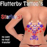 Starburst - lower back - 4th of July