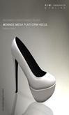 KIM-Monnde Mesh Platform Heels -W.Smoke -WEAR ME-Black Sole
