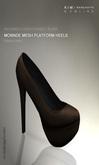 KIM-Monnde Mesh Platform Heels -Bistre -WEAR ME-Black Sole
