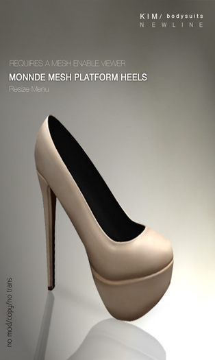 KIM-Monnde Mesh Platform Heels -B.Almond -WEAR ME-Brown Sole