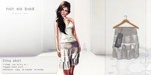 not so bad . mesh . EMA skirt . white