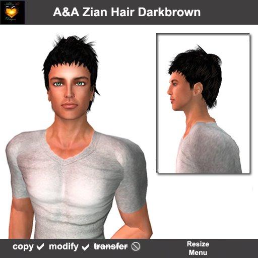 A&A Zian Hair Darkbrown, men's short hairstyle.