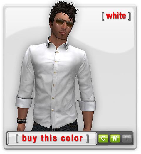Mesh Basic Shirt - White