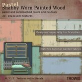 Trowix - Shabby Worn Painted Wood - Pastels Textures