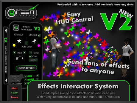 ●GD● Effects Interactor HUD [Send Kisses, Flowers & More!] Interactive particle/texture emitter! Tons of effects!
