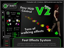 ●GD● Feet Effects HUD [Custom Footprints for Walking, Flying & Dancing] Customizable Paw Prints Foot Emitter System