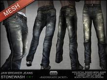 =Razorblade Jacket= Jaw Breaker Grunge Jean/// Stonewash