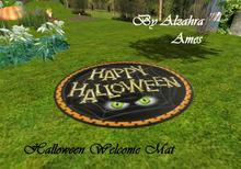 Halloween Welcome Mat by Alzahra Ames