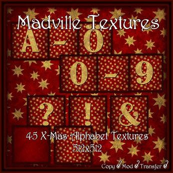 Madville - X-Mas Alphabet Textures